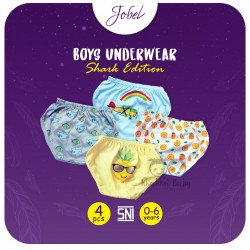 Jobel - Boy's Underwear (4 pcs/pack) - Shark Edition