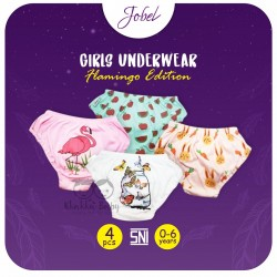 Jobel - Girl's Underwear (4 pcs/pack) - Flaminggo Edition