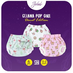 Jobel - Celana Pop Girl (6 pcs/pack) - Donut Edition