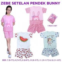 Zebe - Piyama (3 set/pack) -  Girl Bunny Edition