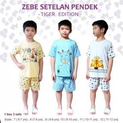 Zebe - Setelan Pendek (3 set/pack) - Tiger Edition