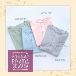 Bohobaby - Piyama Dewasa  - Cloud Gray