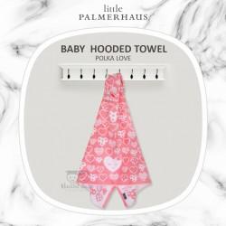 Little Palmerhaus - Baby Hooded Towel - Polka Love