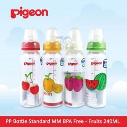 Pigeon - PP Bottle Standard MM BPA Free - Fruits 240 ML