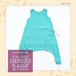Bohobaby - Oversized Playsuit - Dark Mint