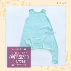 Bohobaby - Oversized Playsuit - Light Mint