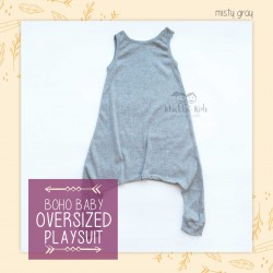 Bohobaby - Oversized Playsuit - Misty Gray