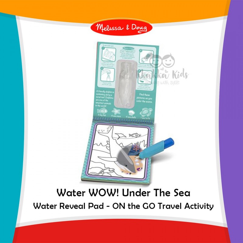 Melissa Doug Water Wow Under The Sea Water Reveal Pad