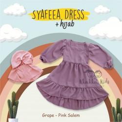Syafeea Dress & Hijab - ( Grape - Pink Salem )
