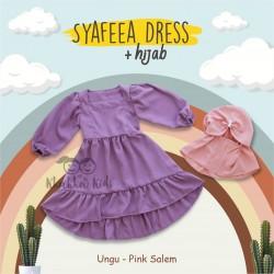 Syafeea Dress & Hijab - ( Ungu - Pink Salem )