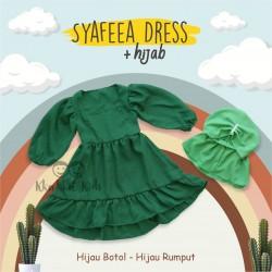 Syafeea Dress & Hijab - ( Hijau Botol - Hijau Rumput )
