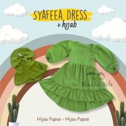 Syafeea Dress & Hijab - ( Hijau Pupus - Hijau Pupus )