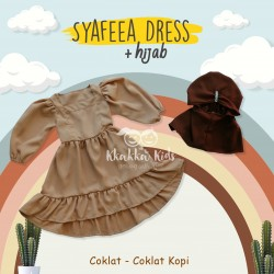Syafeea Dress & Hijab - ( Coklat - Coklat Kopi )