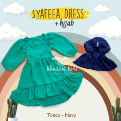 Syafeea Dress & Hijab - ( Tosca - Navy )