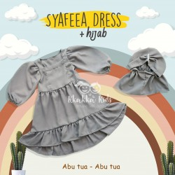 Syafeea Dress & Hijab - ( Abu Tua - Abu Tua )