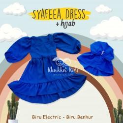 Syafeea Dress & Hijab - ( Biru Electric - Biru Benhur )