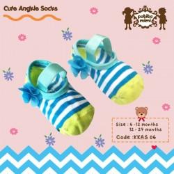 Petite Mimi - Cute Ankle Socks - Biru Strip