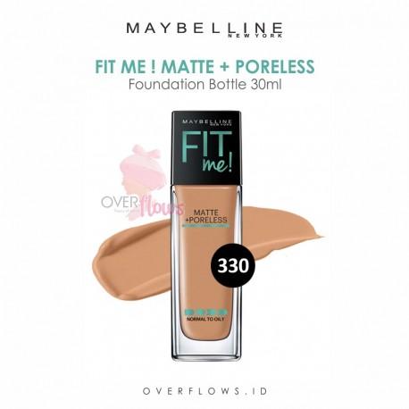Maybelline - Fit Me Matte + Poreless Foundation Bottle 30ML - 330(Toffee)