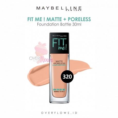 Maybelline - Fit Me Matte + Poreless Foundation Bottle 30ML - 320(Natural Tan)