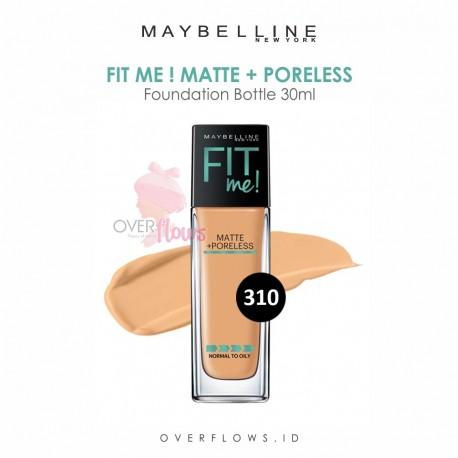 Maybelline - Fit Me Matte + Poreless Foundation Bottle 30ML - 310(Sun Beige)