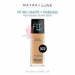 Maybelline - Fit Me Matte + Poreless Foundation Bottle 30ML - 322(Warm Honey)