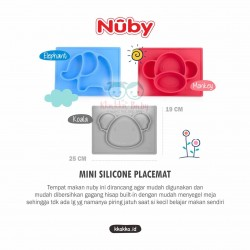 Nuby - Mini Silicone Placemat Blue - Elephant (120928)