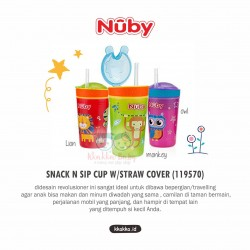 Nuby - Snack N Sip Cup W/Straw Cover (119570)