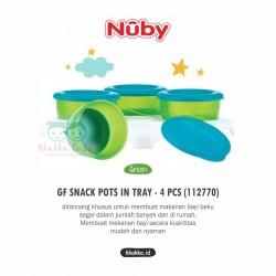 Nuby - Garden Fresh Snack Pots In Tray - 4 pcs (112770)