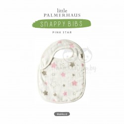 Little Palmerhaus - Snappy Bibs - Pink Star