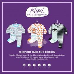 Kazel - Sleepsuit (3 set/pack) -  England Edition (Buka Kaki)