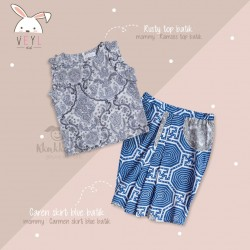 Veyl Kids - Caren Skirt Batik - Blue