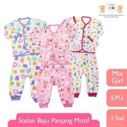 Libby - ECER 1Set Setelan Baju Panjang SML Kecil (Kancing Depan) - MIX GIRL (SRG) [ECER 1PCS]