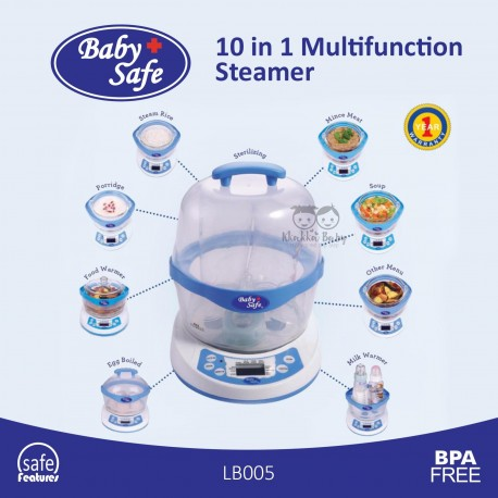 Baby Safe - 10 in 1 Multifunction Steamer - LB005