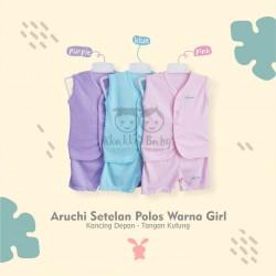 Aruchi - ECER 1SET - Setelan Polos Warna Girls - Tanpa Lengan / Tangan Kutung [1 SET]