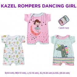 Kazel - Romper (3 pcs/pack) - Dancing Girl Edition