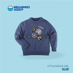 Helomici - Knitwear Little Badge Boy - Blue