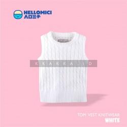 Helomici - Knitwear Tom Vest - White