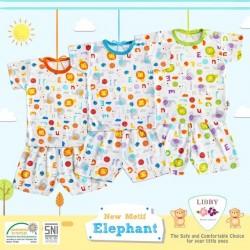 Libby - ECER 1Set Setelan Oblong Pendek SML Kecil - Elephant [ECER 1SET]