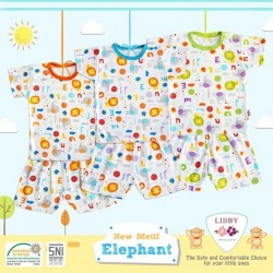 Libby - ECER 1Set Setelan Oblong Pendek SML Besar - Elephant [ECER 1SET]
