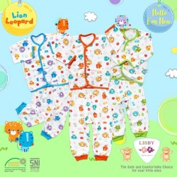 Libby - ECER 1Set Setelan Baju Panjang SML Kecil (Kancing Depan) - Lion [ECER 1SET]