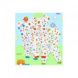 Libby - ECER 1Set Setelan Baju Panjang Newborn (Kancing Depan) - Lion [ECER 1SET]