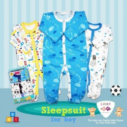 Libby Premium - Sleepsuit Kancing (3 pcs/pack) - Boy - 12-18 Month