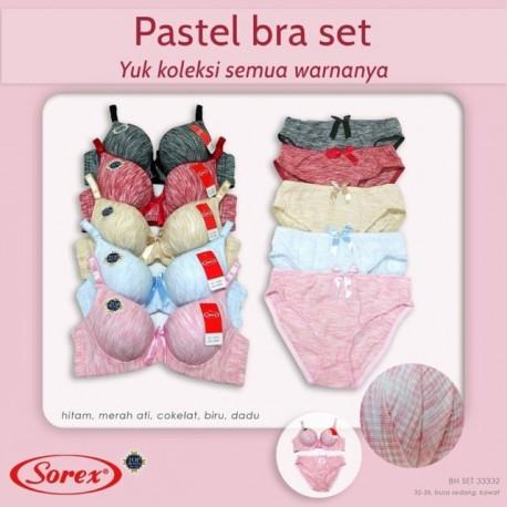 Sorex - Bra Sorex Pastel Set 33332 - Pink