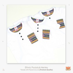 Little Jack - Etnic Pockslub Henley Shirt