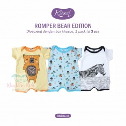 Kazel - Romper (3 pcs/pack) - Bear Edition