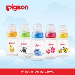 Pigeon - PP Bottle Standard MM BPA Free - Animals 120 ML