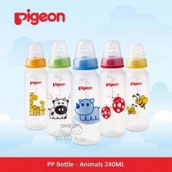Pigeon - PP Bottle Standard MM BPA Free - Animals 240 ML