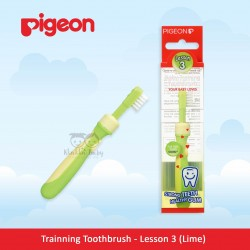 Pigeon - Trainning Toothbrush - Lesson 3 (Lime Green)